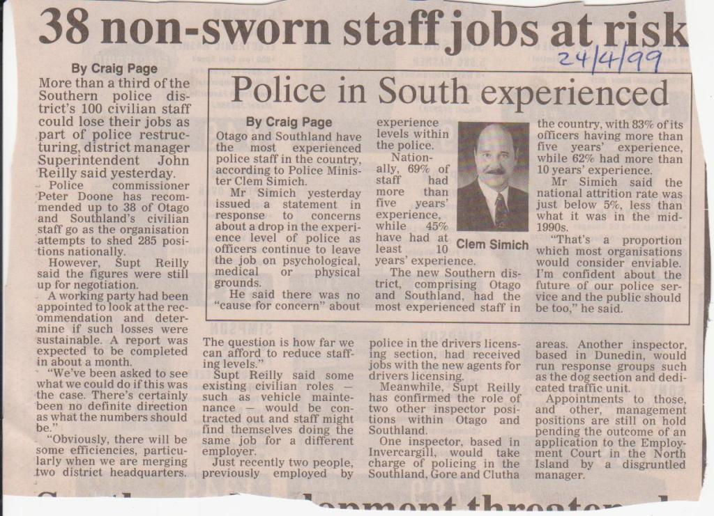 38 non-sworn staff jobs at risk